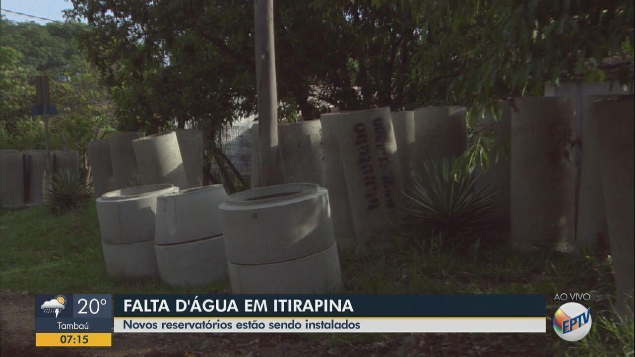 Prefeitura instala reservatórios para resolver falta de água em Itirapina