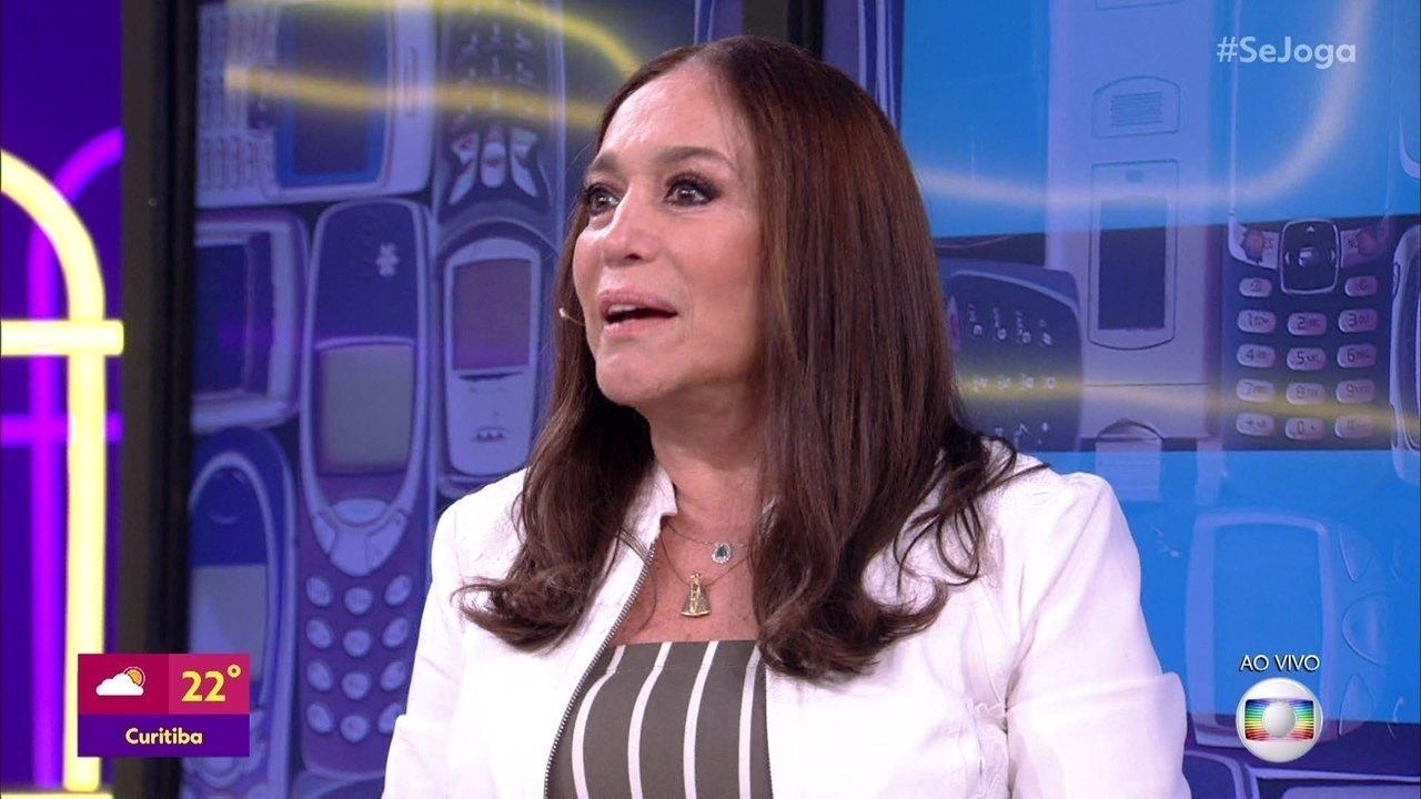 Susana Vieira entrega a senha do celular para o 'Se Joga'