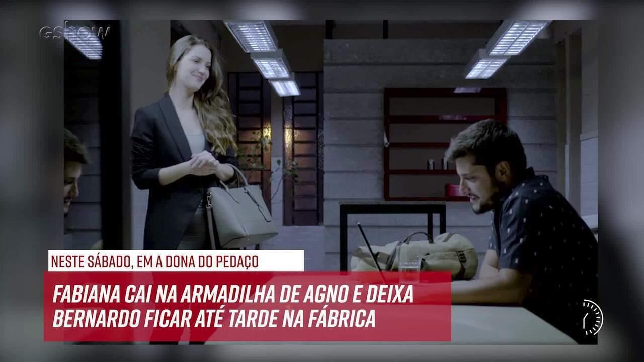 Resumo do dia - 09/11 – Fabiana cai na armadilha de Agno e deixa Bernardo ficar até tarde