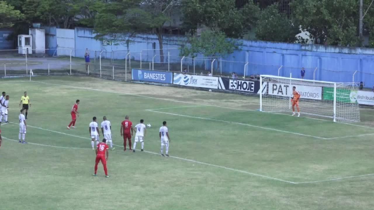 O gol de Vitória-ES 0 x 1 Real Noroeste, pela Copa Espírito Santo 2019