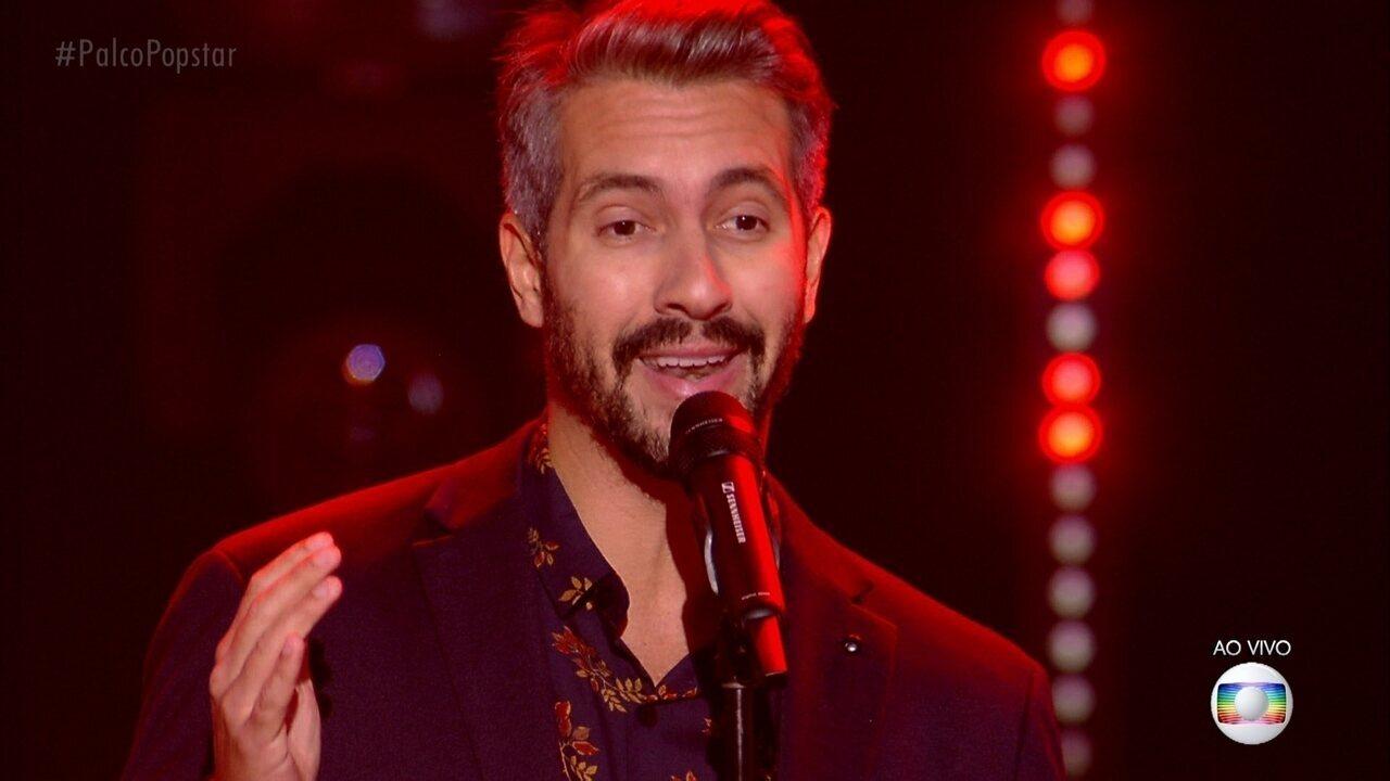 Danilo Vieira cantou 'São Gonça' e também falou sobre a e experiência de cantar
