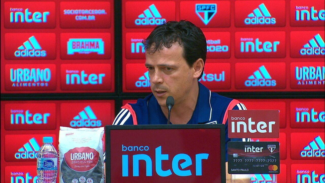 Veja a entrevista coletiva de Fernando Diniz após derrota do São Paulo para o Athletico-PR