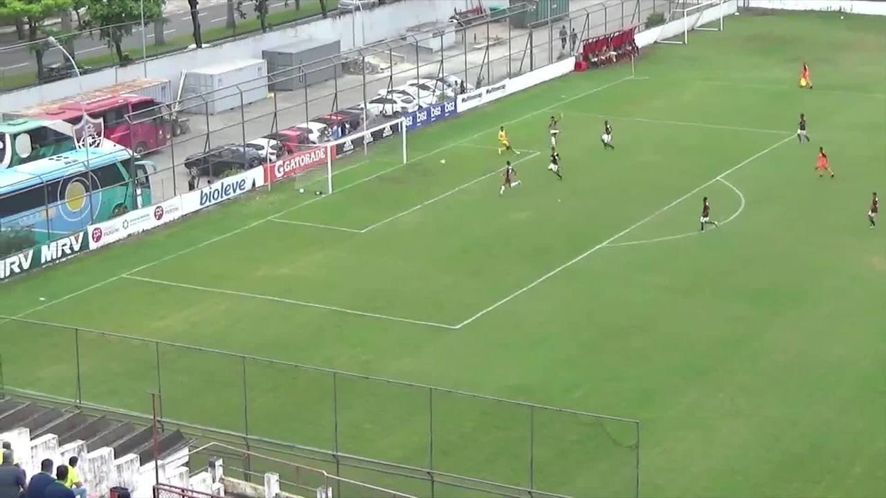 Veja os gols de Flamengo 0x3 Fluminense pelo Carioca sub-16