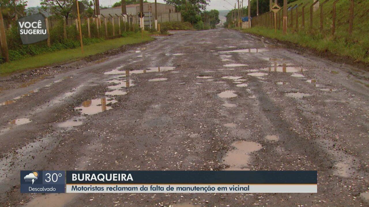 Motoristas relatam falta de manutenção em vicinal que liga Santa Gertrudes a Iracemápolis