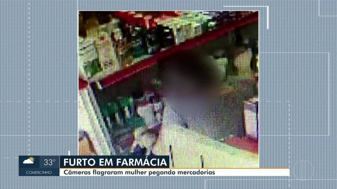 Mulher é flagrada furtando farmácia em Montes Claros