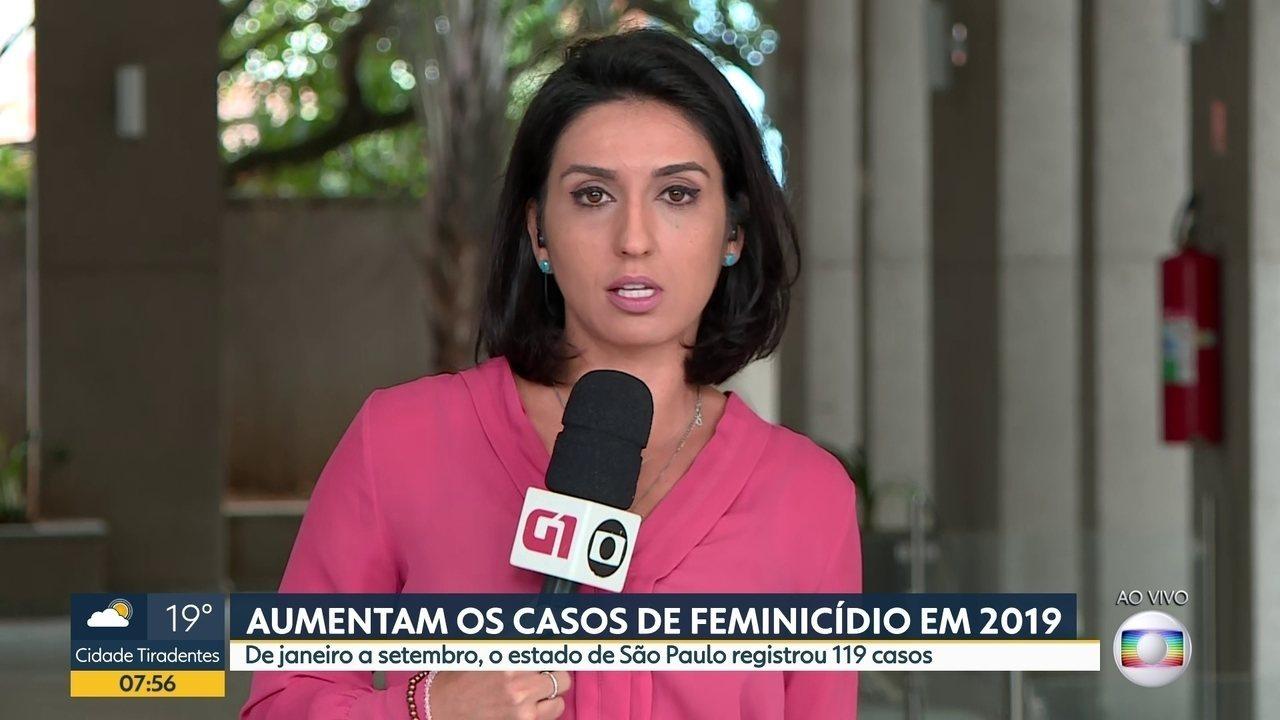 Cresce o número de feminicídios no estado de São Paulo