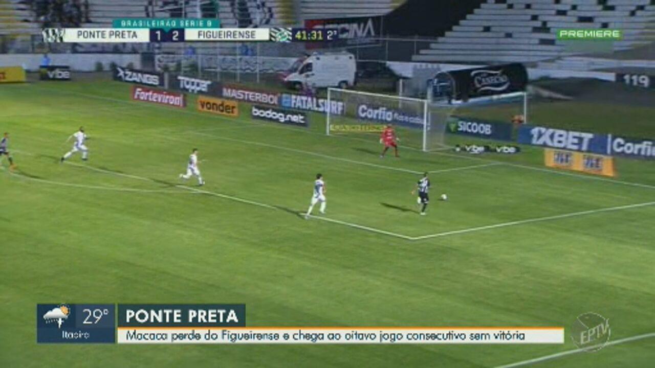 Ponte Preta sofre derrota dentro de casa para o Figueirense e mantém série negativa