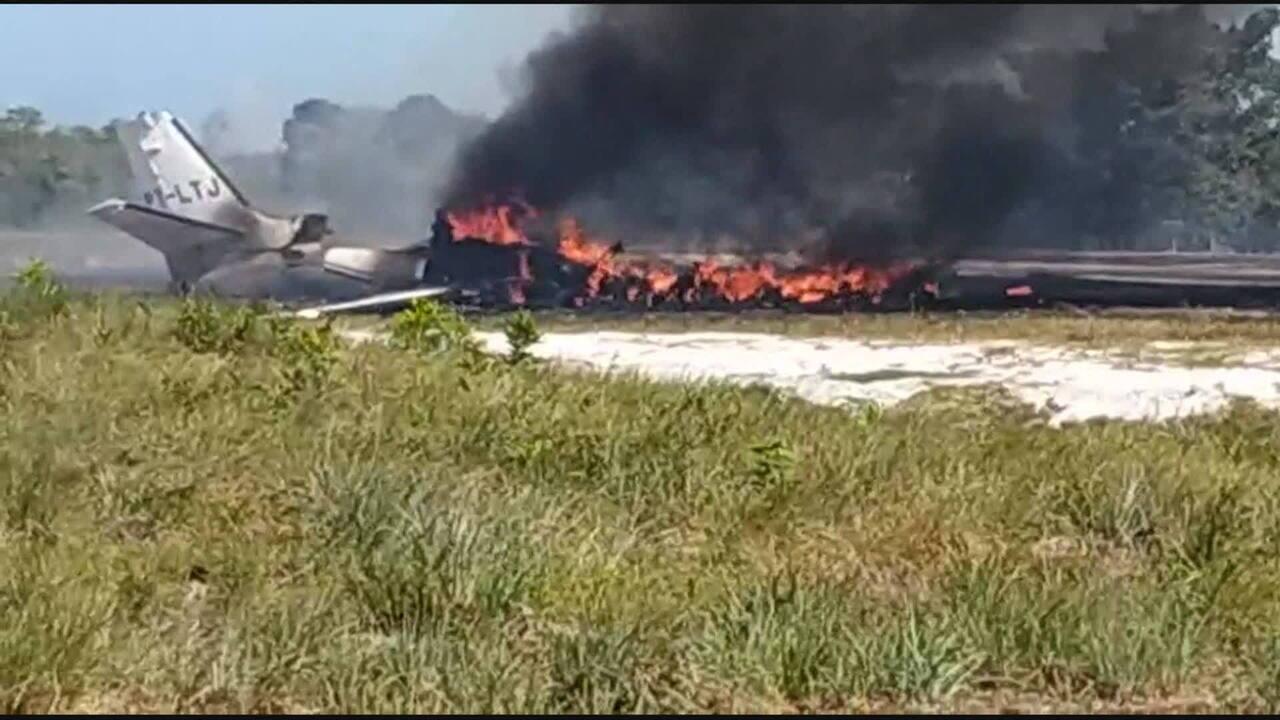 Uma pessoa morre e nove ficam feridas em queda de avião em Barra Grande, Bahia