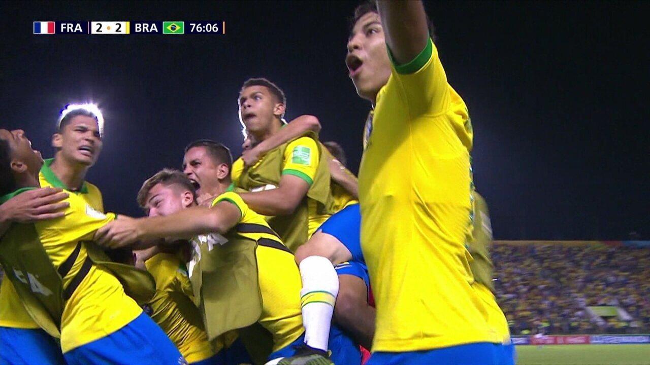 Gols de França 2 x 3 Brasil pela semifinal do Mundial Sub-17