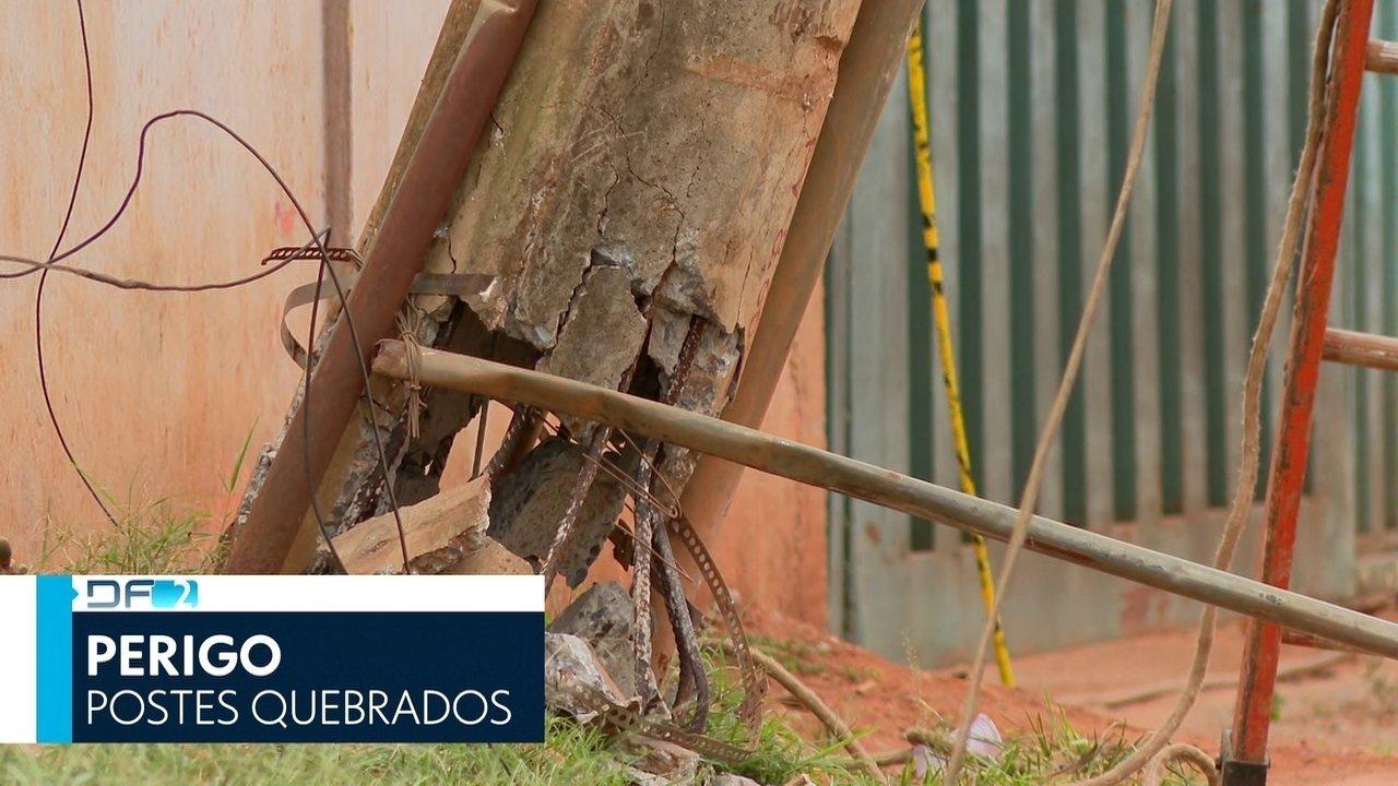 DF2 - Edição de sexta, 15/11/2019 - Postes de energia em péssimas condições oferecem riscos a moradores em muitas regiões do DF. E mais as notícias do dia,