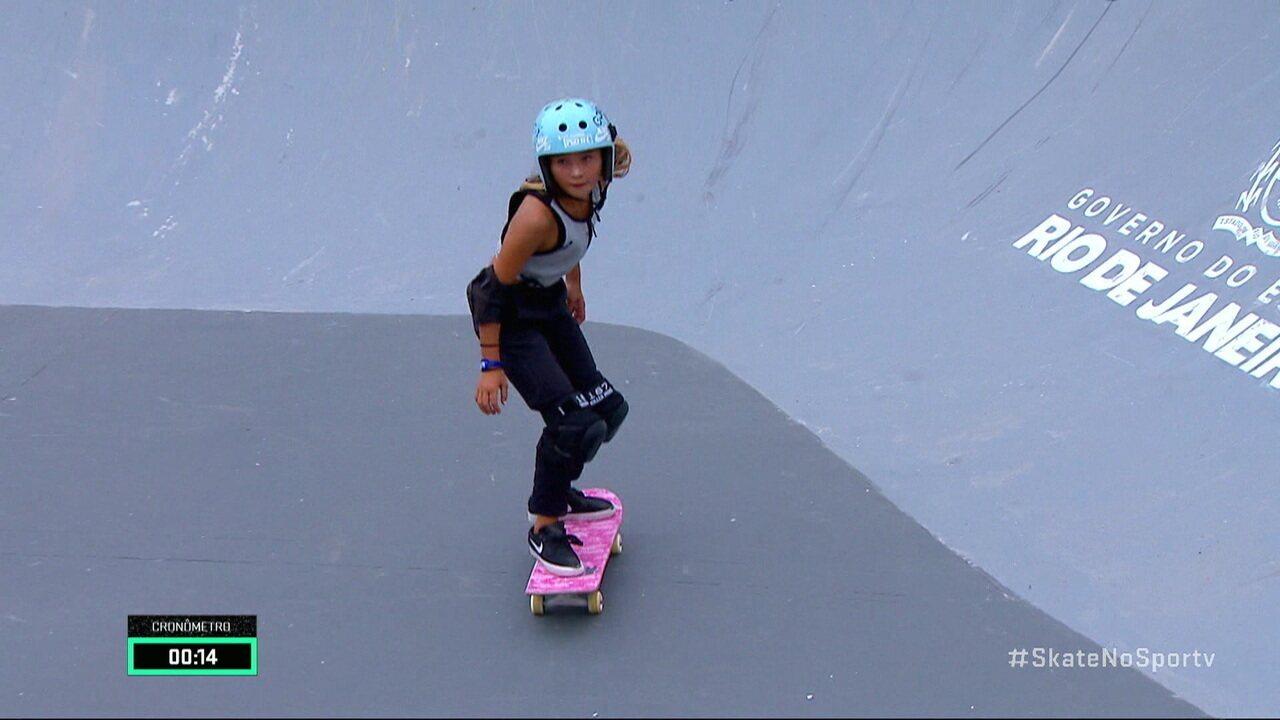 Confira a melhor volta de Sky Brown no Park Feminino do STU Open Skate