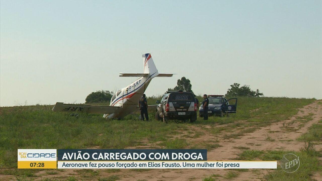 Avião carregado com 30 kg de pasta base de cocaína faz pouso forçado em Elias Fausto