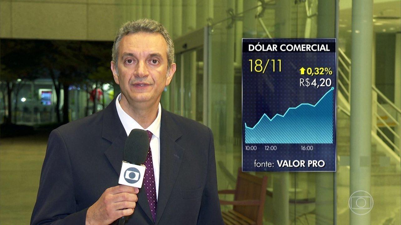 Dólar sobe a R$ 4,20, maior valor desde a criação do plano Real
