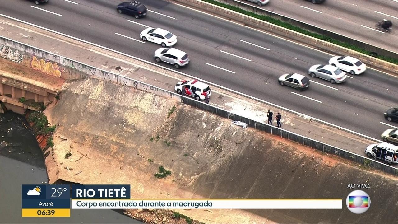 Corpo é encontrado na Marginal Tietê durante a madrugada