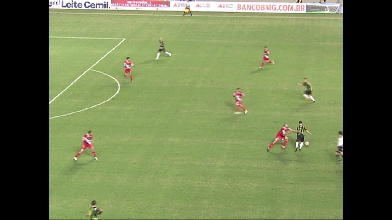 Contra Argentinos Juniors, Alessandro marca o 1º gol do América-MG no novo Independência