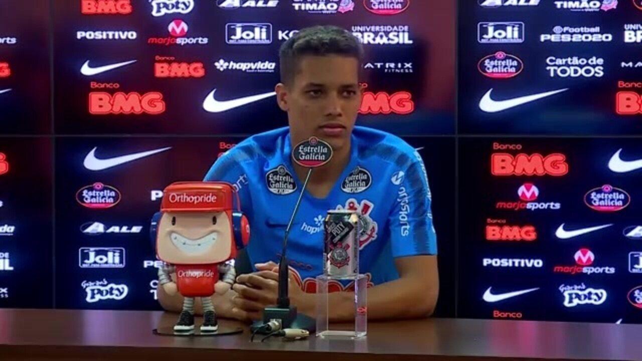 Veja a entrevista coletiva de Pedrinho, no Corinthians