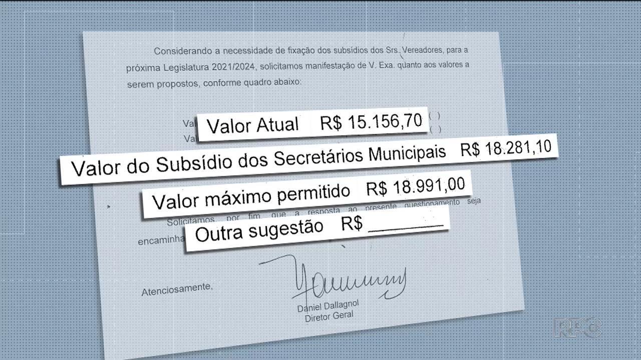 Presidente da Câmara faz pesquisa sobre o valor do salário dos futuros vereadores