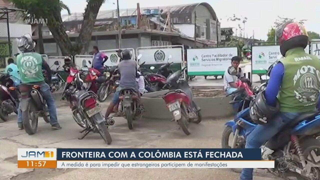 Fronteira entre Brasil e Colômbia está fechada
