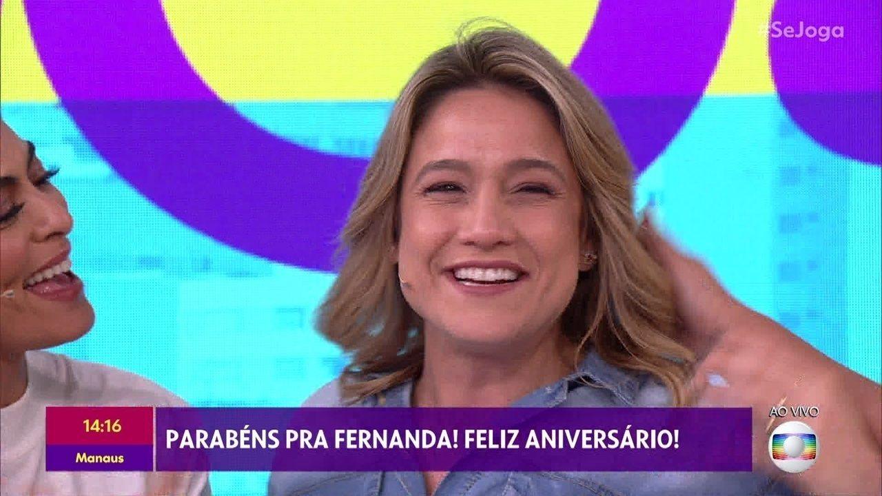 'Se Joga' comemora o aniversário de Fernanda Gentil