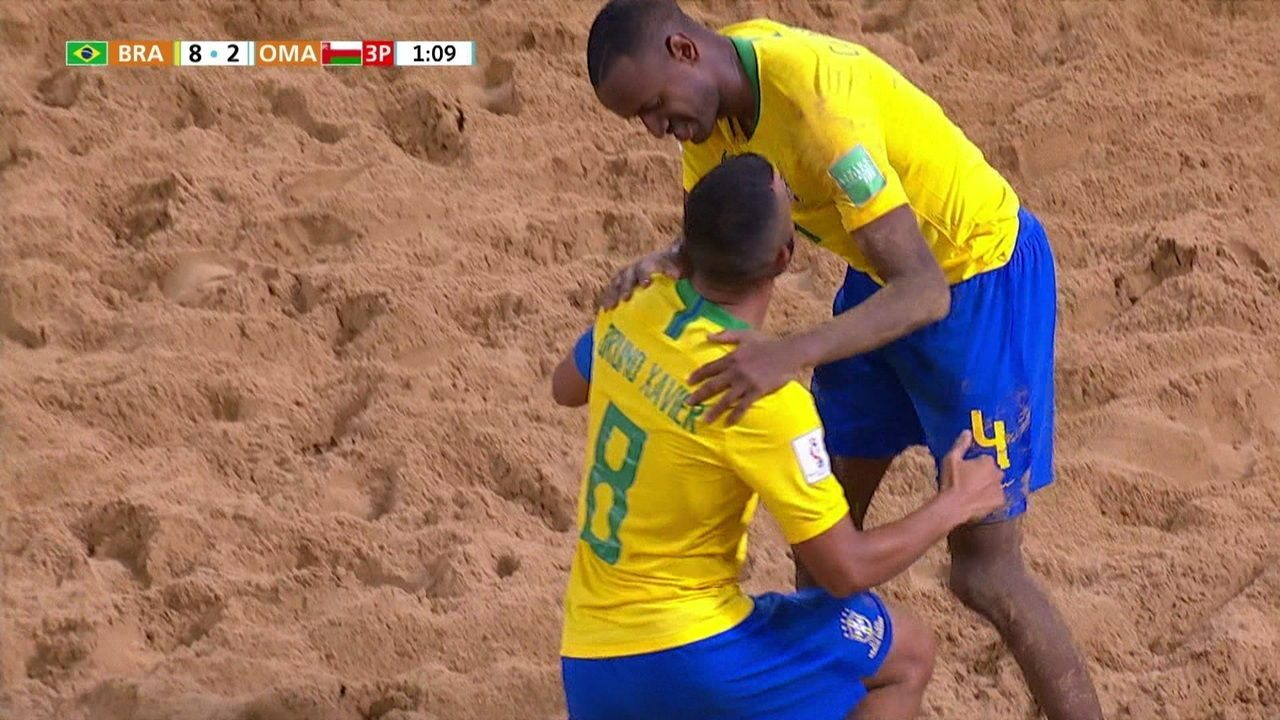 Os gols de Brasil 8 x 2 Omã pela Copa do Mundo de Futebol de Areia 2019