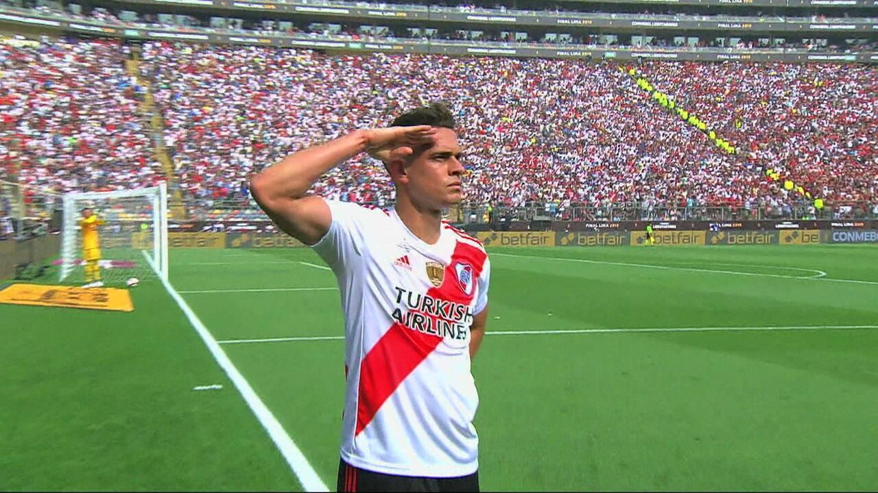 Veja gol de Borré, do River Plate, contra o Flamengo