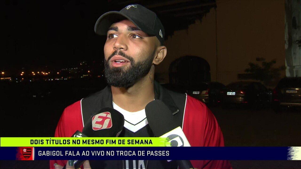 """Gabigol diz que canto de """"Palmeiras não tem Mundial"""" não foi provocação"""