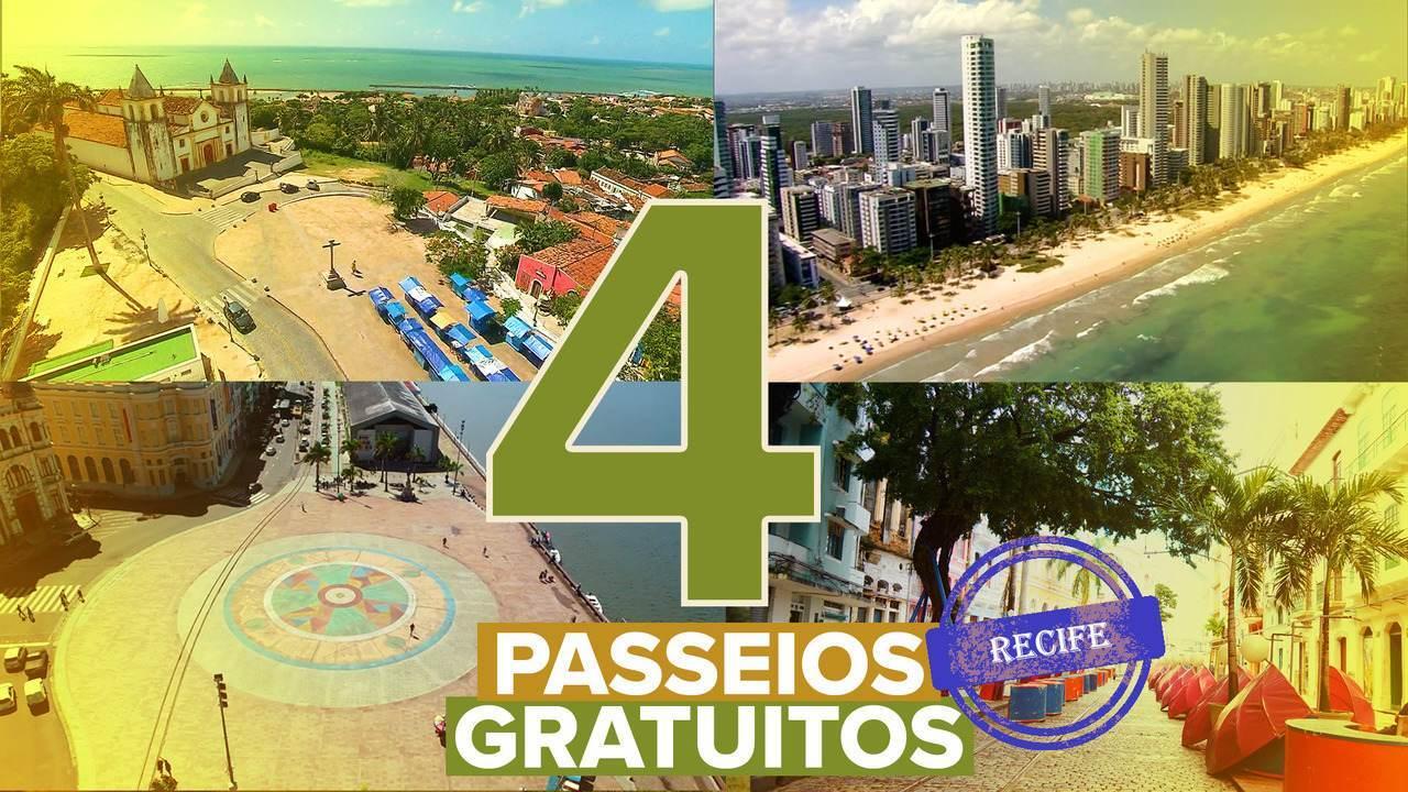 Veja quatro opções de passeios gratuitos no Recife