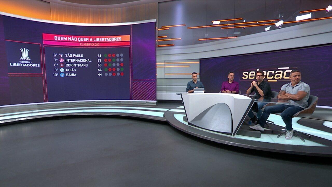 """Mesa debate sobre os times que """"não querem"""" a Libertadores pelo fraco desempenho recente"""