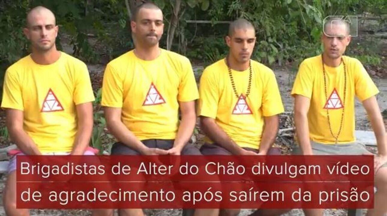 Brigadistas de Alter do Chão divulgam vídeo de agradecimento após saírem da prisão