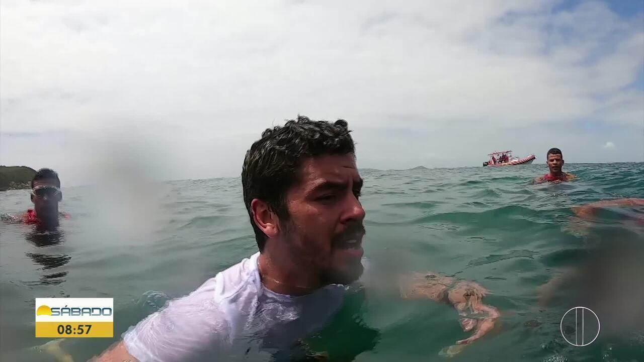 'Vai Encarar?': Gustavo Garcia em um dia como bombeiro guarda-vidas