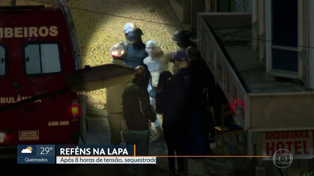 Após oito horas de tensão na Lapa, sequestrador foi preso e ninguém ficou ferido