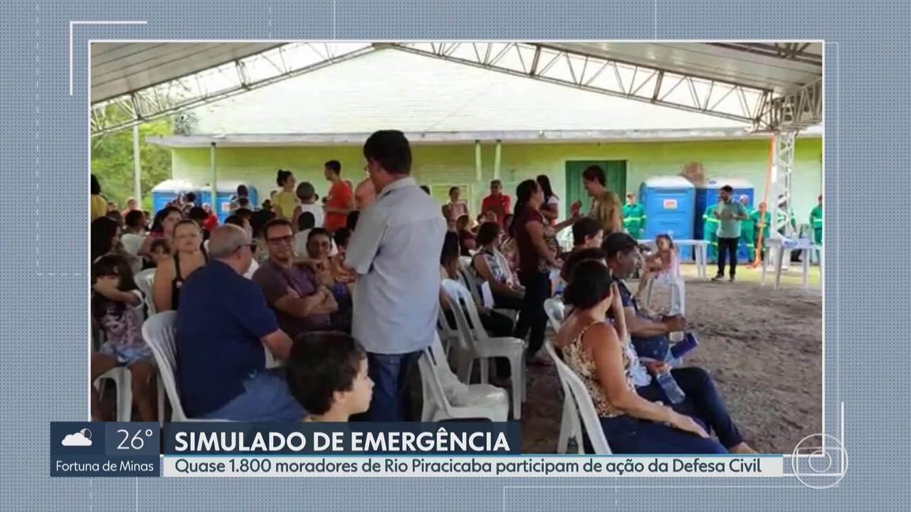 Quase 1.800 moradores de Rio Piracicaba participam de simulado de emergência