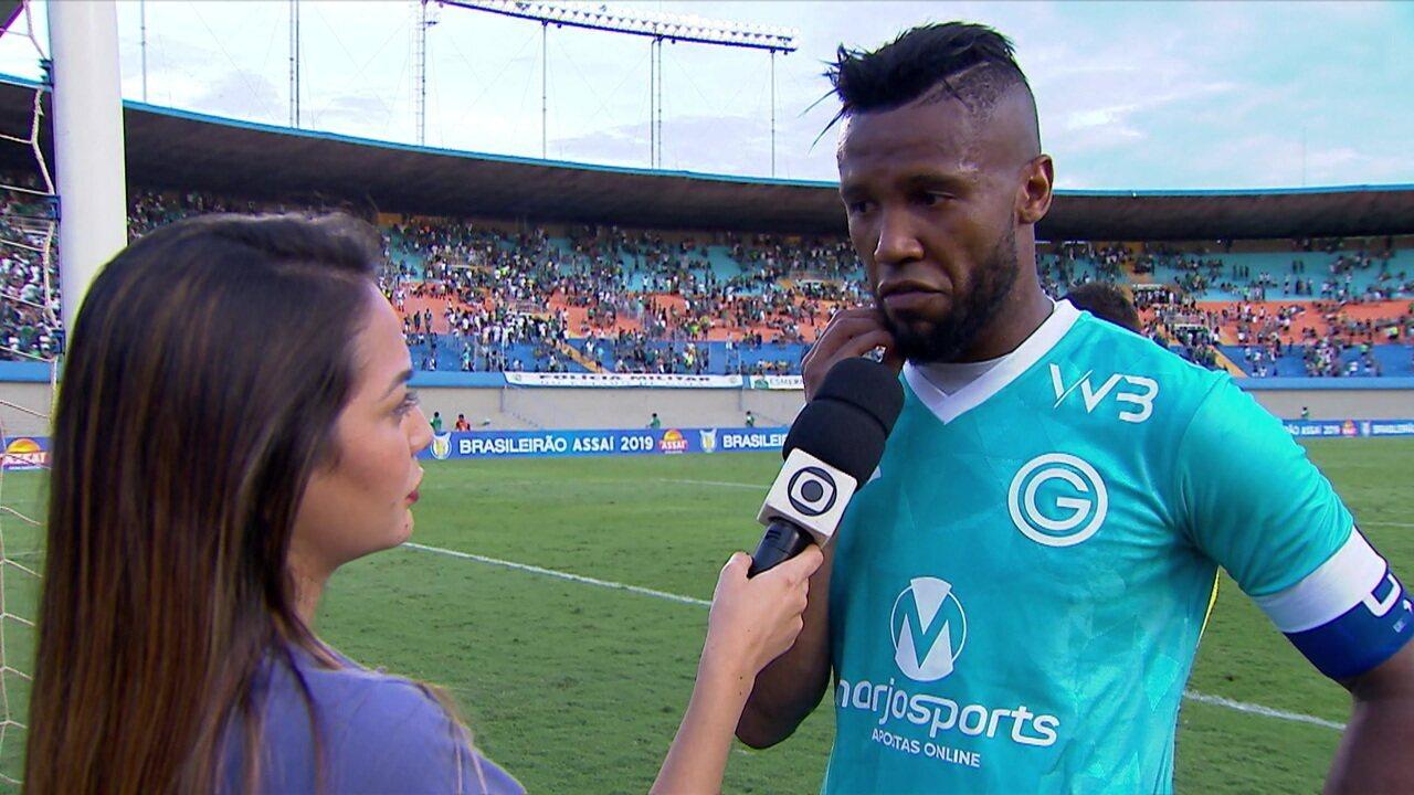 """Rafael Vaz após derrota em casa: """"A gente sabe que o time começou muito abaixo, mas corremos até o final"""""""