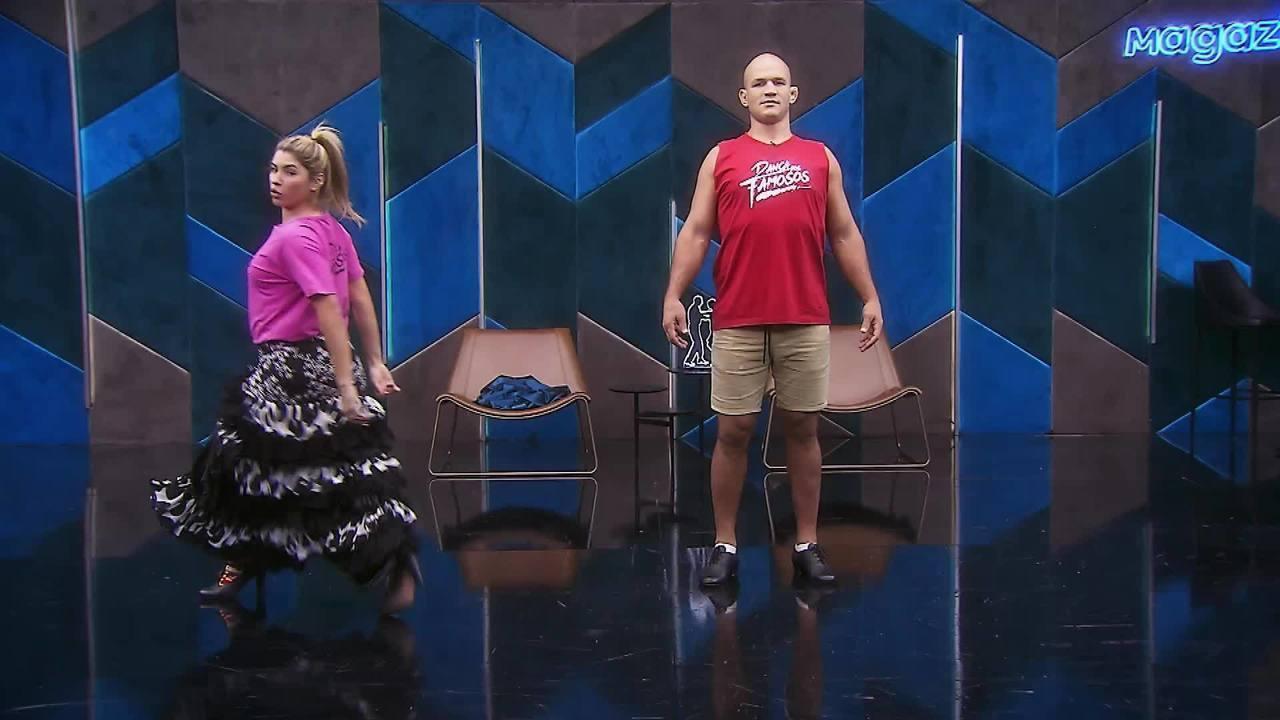 Veja os ensaios de Junior Cigano para o paso doble no 'Dança dos Famosos'