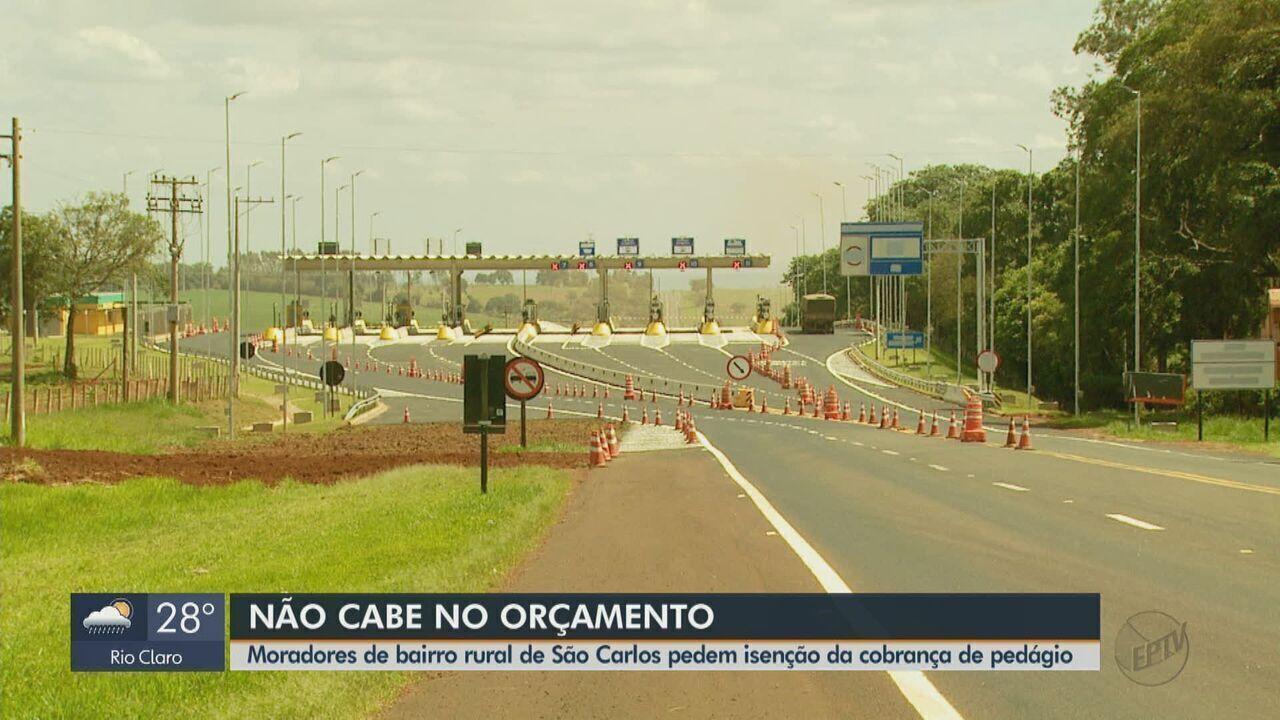 Moradores de bairro rural de São Carlos pedem isenção da cobrança de pedágio