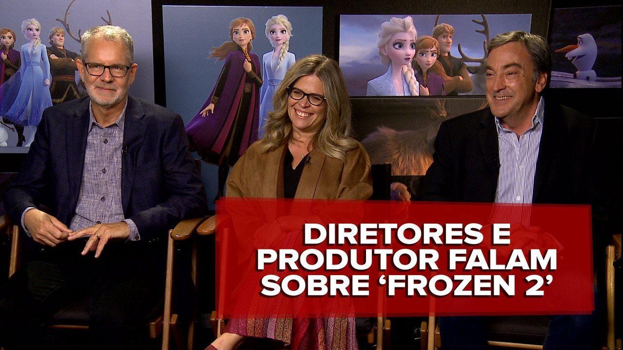 Diretores e produtor de 'Frozen 2' dizem que sentiram saudade dos personagens