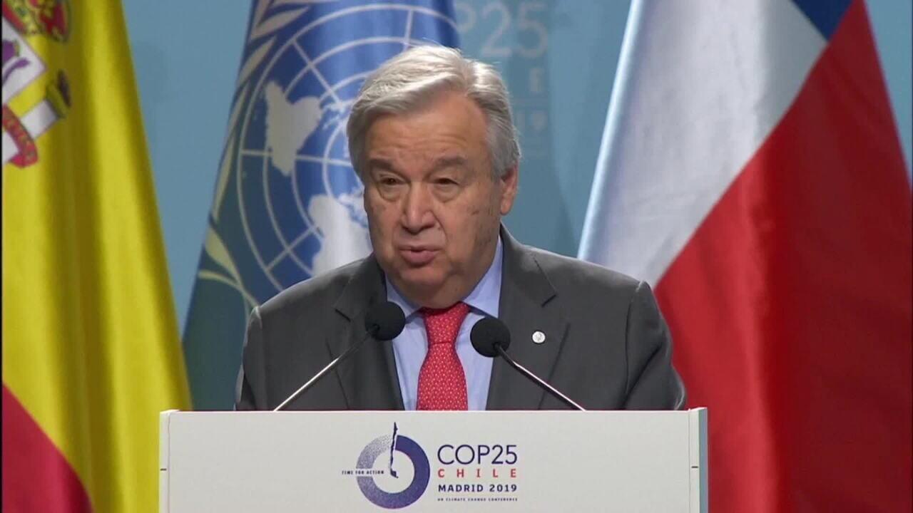 Secretário-geral da ONU cobra países na abertura da COP-25, em Madri