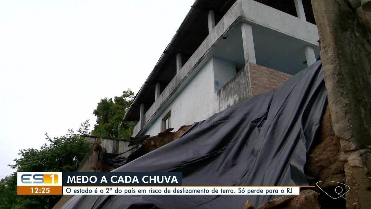 ES é o 2º estado do país em risco de deslizamento de terra, aponta IBGE