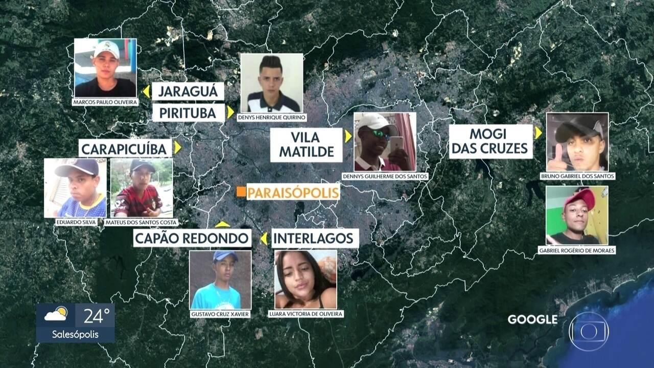 Vítimas da tragédia em Paraisópolis eram jovens moradores de outros bairros