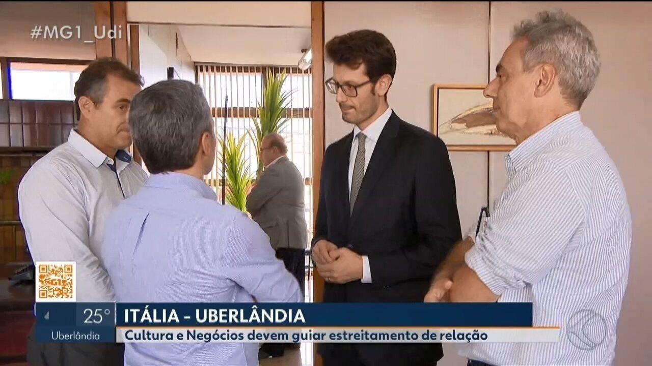 Cônsul da Itália fala sobre estreitar relacionamentos durante visita a Uberlândia