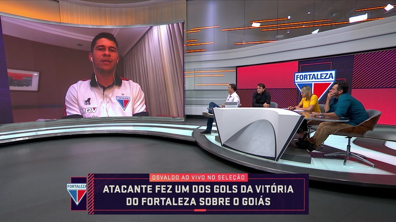 Atacante do Fortaleza, Osvaldo participa do Seleção e comemora campanha de 2019