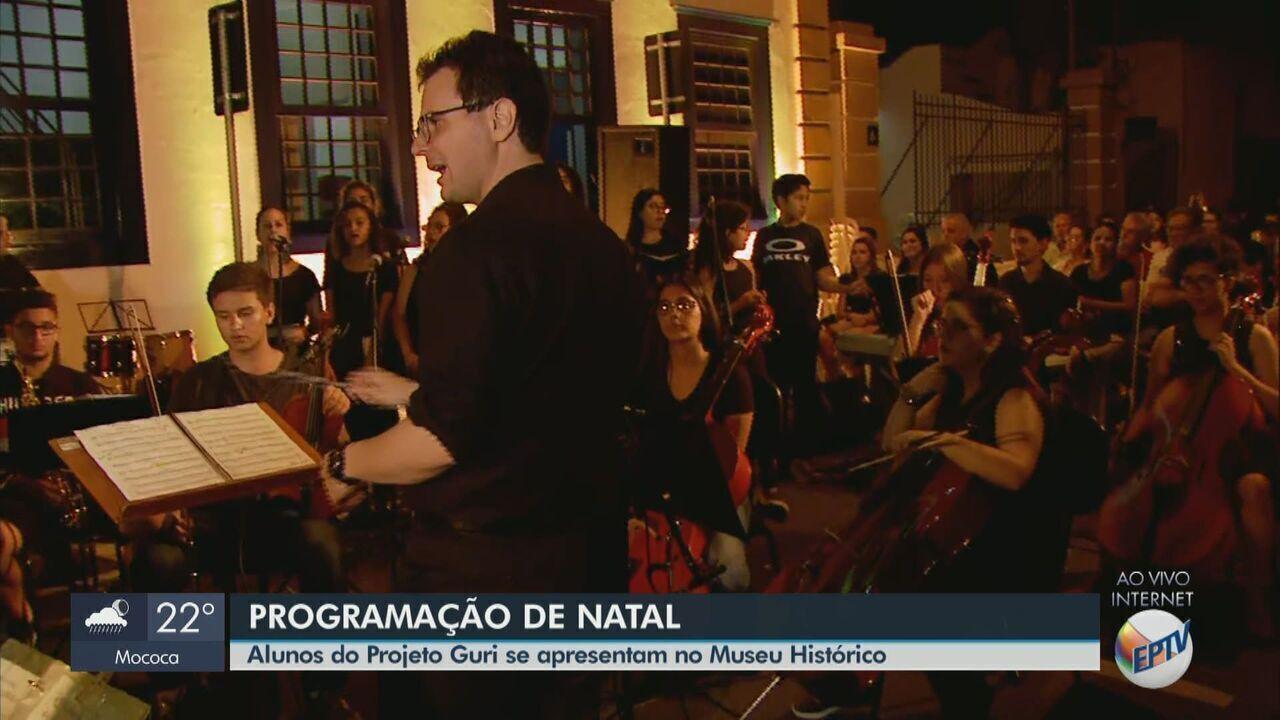 Programação de Natal de Rio Claro é aberta com apresentação do Projeto Guri