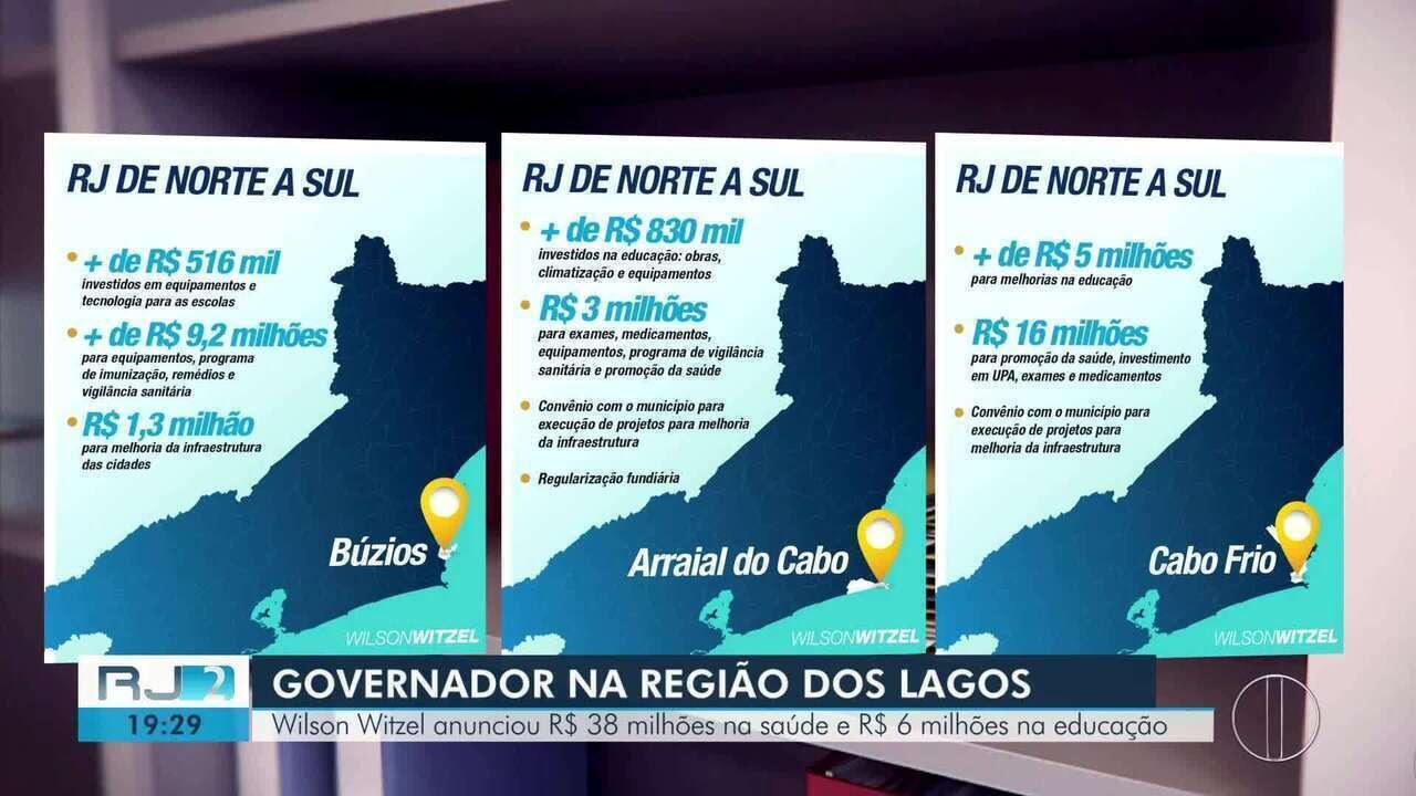 Witzel anuncia investimentos para cidades da Região dos Lagos do Rio