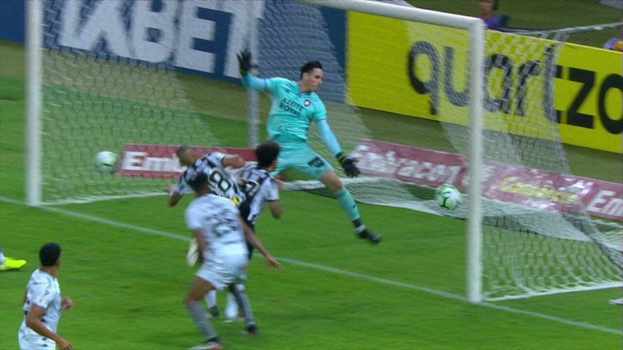 Os gols de Atlético-MG 2 x 0 Botafogo pela 37ª rodada do Brasileirão 2019