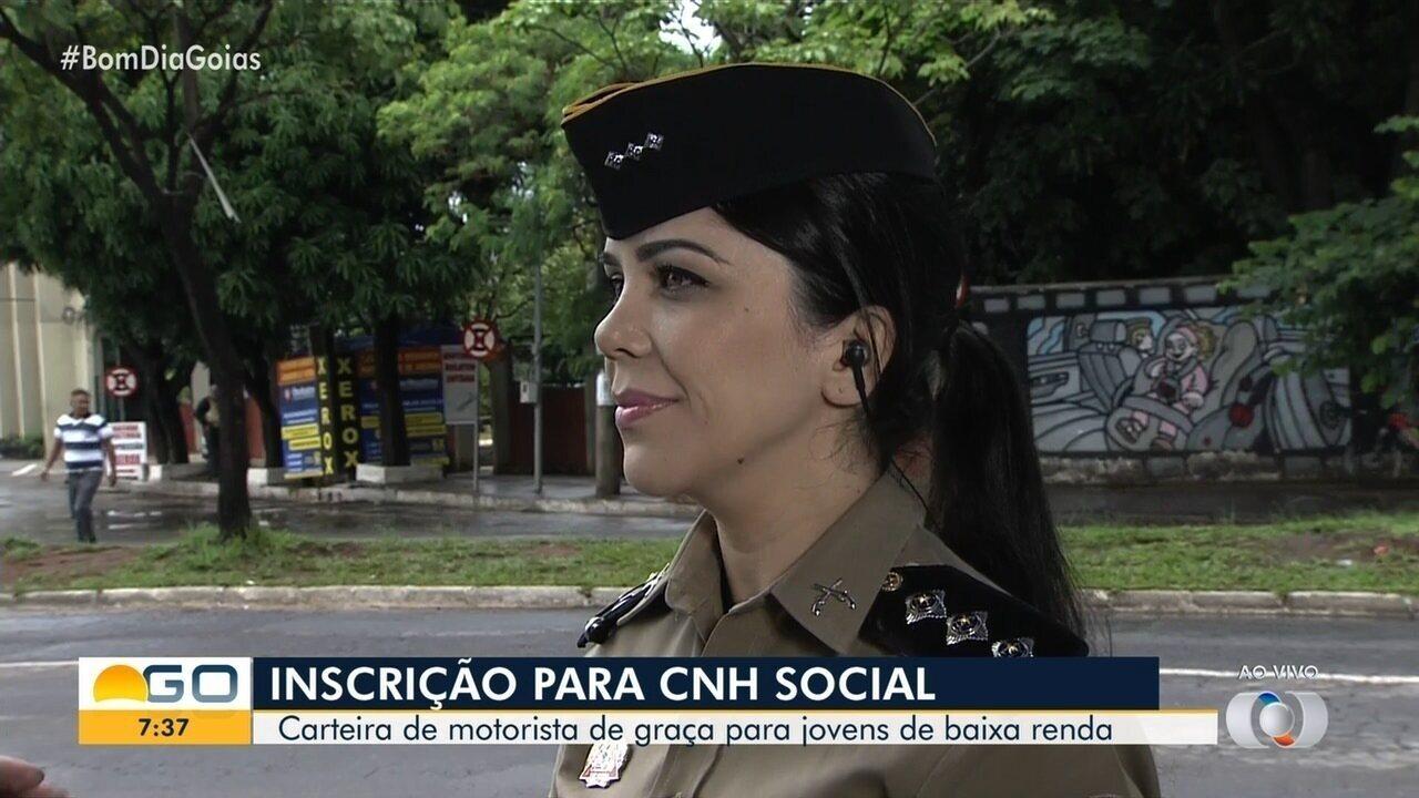 Começa o prazo de inscrição para a CNH Social, em Goiás