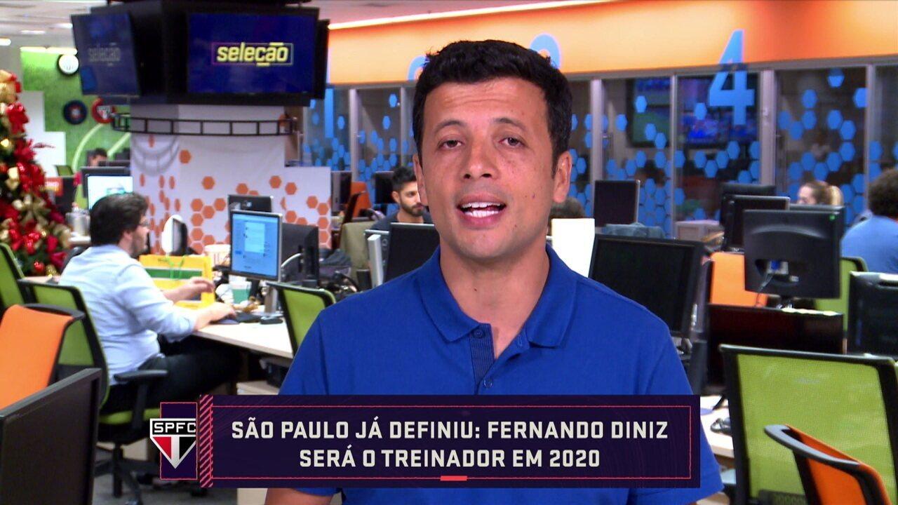 Repórter Andre Hernan informa que o técnico Fernando Diniz fica no São Paulo
