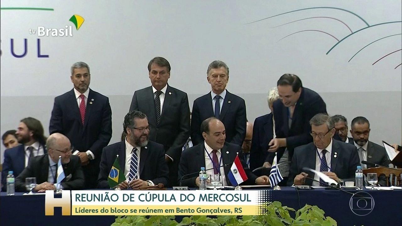 Líderes do Mercosul se reúnem em Bento Gonçalves, na Serra Gaúcha