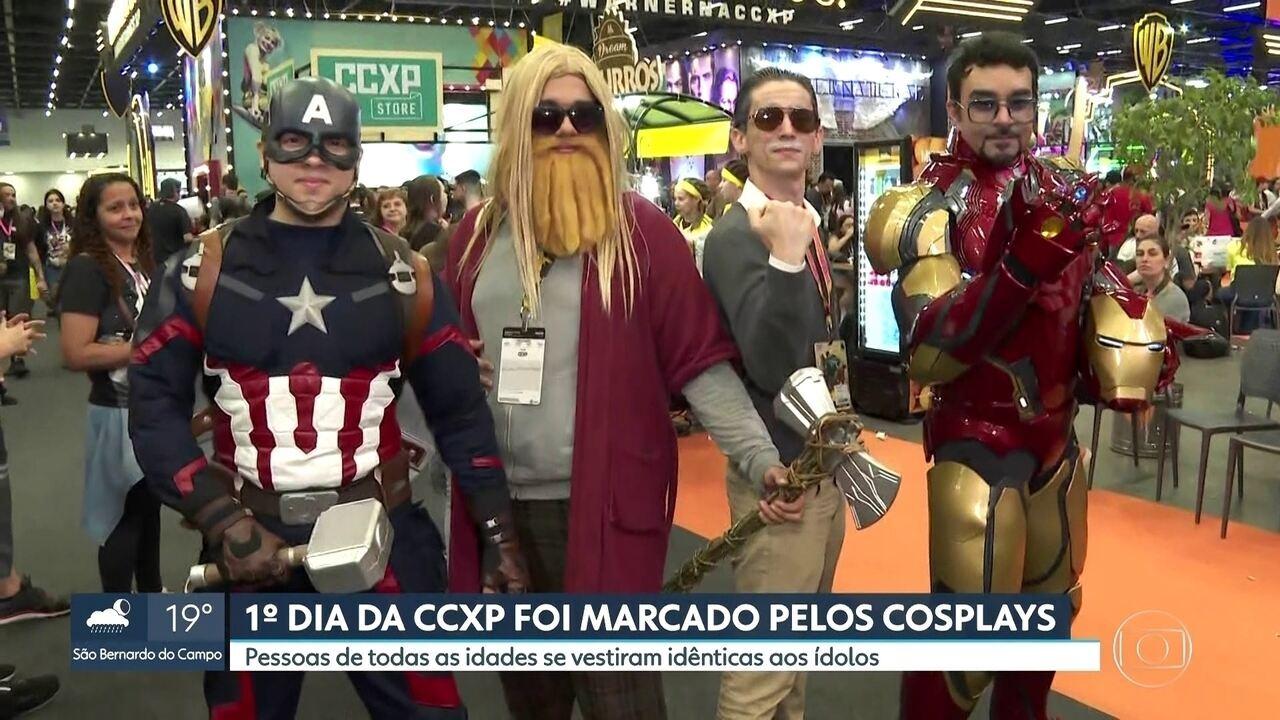 Primeiro dia da Comic Con Experience é marcado por cosplays