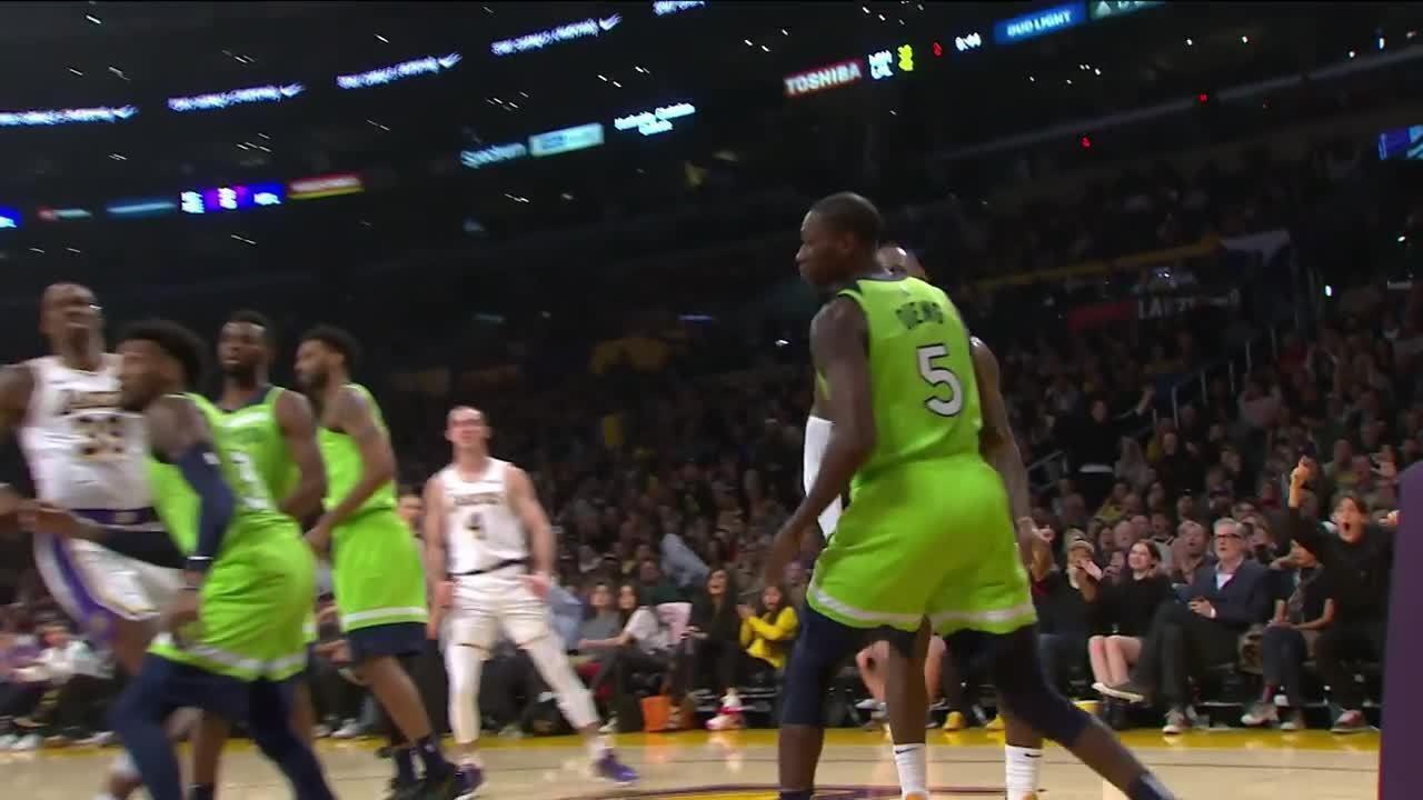Melhores momentos: Los Angeles Lakers 142 x 125 Minnesota Timberwolves pela NBA