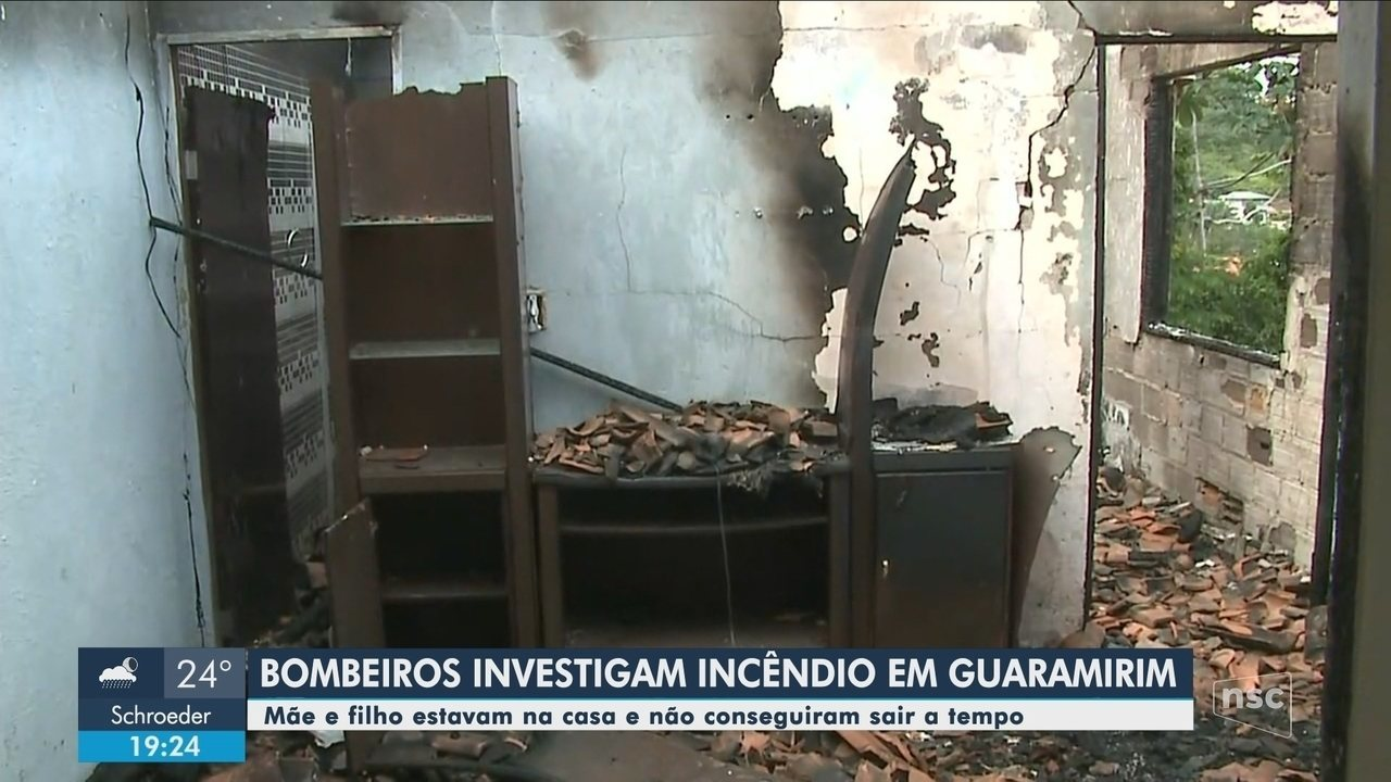 Duas pessoas morrem em incêndio em casa no Norte de SC